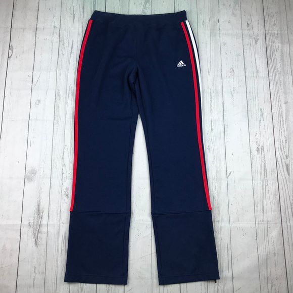1cacfb0d1 adidas Pants | Blue Red White Stripes Ankle Zip T20 | Poshmark